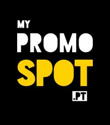 Logotipo amarelo e preto A promospot agência de publicidade